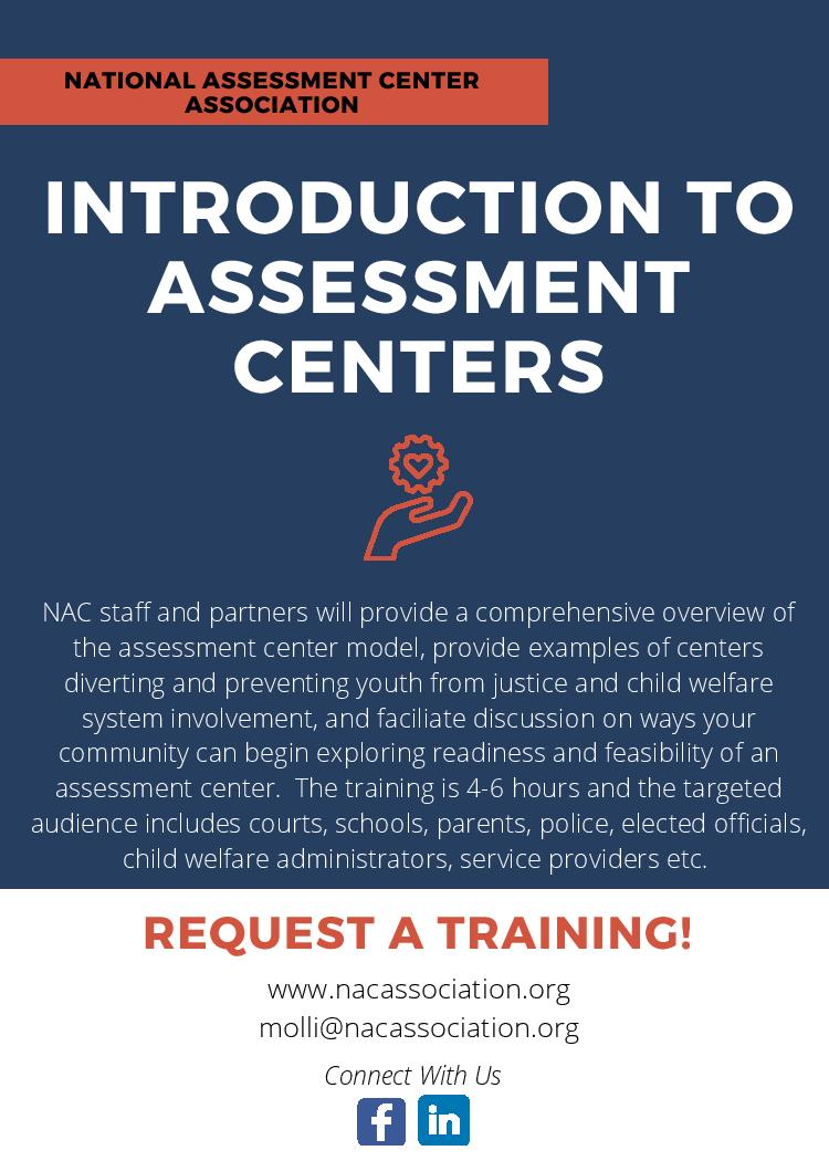 Trainings The assessment center (ac) is a method by which applicants go through various job assessment tests, mainly psychological tests, to check their suitability for a job. trainings